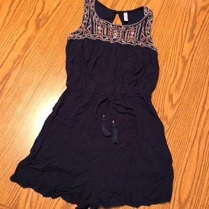 Embroidered Top Romper
